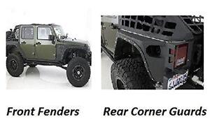 Smittybilt 07-17 Fits Jeep JK Wrangler XRC Rear Guards Front Fender Flares Set