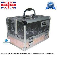 NEO ROSE ALUMINIUM SEQUINS COSMETIC BEAUTY VANITY MAKE UP JEWELLERY SALOON CASE