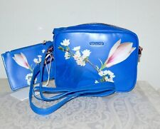 "NWT $119 TED BAKER ""Bbonnie"" Coated Canvas Harmony Print Crossbody Bag Blue"