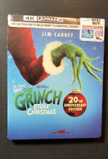 How the Grinch Stole Christmas 20th Anniversary Steelbook (4K Uhd Blu-ray) New