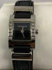 HOT DIAMONDS Ladies Wristwatch with Narrow Black Leather Strap T019