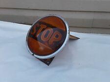 Vintage 7' School Bus Stop Light - w/ bracket Old School Rat Rod Amber lens RARE