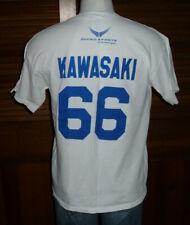 Rare MUNENORI KAWASAKI Buffalo Bisons T-Shirt  Sz L Blue Jays Cubs #66 2-sided