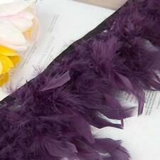 183cm Turkey Feather Fringe Deep Purple Trim DIY Craft