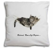 Cats in Hammock Retirement Gift Soft Velvet Feel Cushion Cover Wi, AC-RET206-CPW