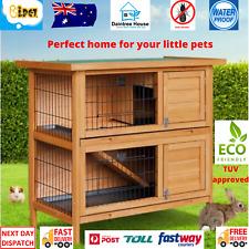 Large Rabbit Hutch Chicken Coop Guinea Pig Ferret Cage Hen Chook House Run