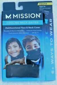 Mission Cooling Face and Neck Gaiter Multifunctional - Ages 8+ - Various Colors