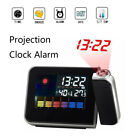 Digital Projection Clock Alarm Calendar Temperature Humidity Weather Display