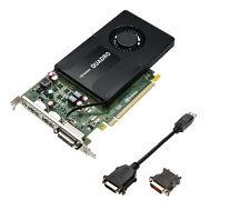 NVIDIA Quadro K2200 graphics card 4GB GDDR5 DP Support 4K 2X DisplayPort DVI
