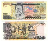 PHILIPPINES 500 Piso Banknote (2002) P-196a UNC Paper Money