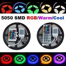 5M 10M 15M 300 LED RGB 5050 SMD Flexible Strip Light 24/44 IR Mando Tecla Nuevo