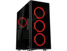 Rosewill ATX Mid Tower Gaming PC Computer Case with Dual Ring Red LED Fans, 360m