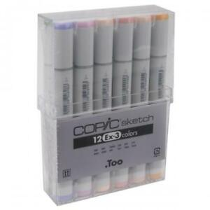 Copic Sketch Markers Set 12/Pkg-Ex-3