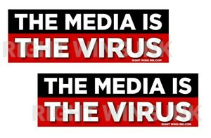 The Media Is The Virus Conservative Decals 2 Bumper Stickers