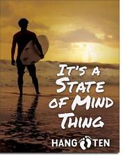 Hang Ten Surfer onde EQUITAZIONE USA METALLO DECORAZIONE MANIFESTO