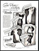 1956 FORMFIT Bra Long-Torso Girdle Vintage Lingerie Women's Underwear Photo AD