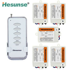 5Ch Remote Light Control Five Receivers RF Wireless Power Switch for Light Hot