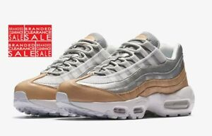BNIB New Women Nike Air Max 95 Special Edition Tan Silver size 5.5 uk