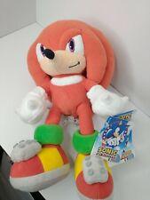"12"" Rare Knuckles Sonic The Hedgehog Sega Europe Prize Plush Toy Ufo Game Uk Nwt"