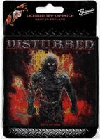Official Merch Woven Sew-on PATCH Heavy Metal Rock DISTURBED Indestructible