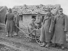 WWII B&W Photo German Prisoners of War Germany Feb 1945  US 9th Army  WW2 / 2326
