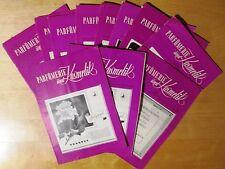 11 Issues of  PARFUMERIE Und KOSMETIK  1953 - 1956 (Deutsche Parfumerie-Zeitung)