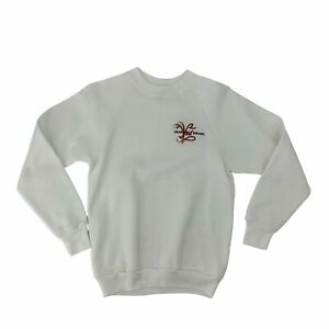 Vintage Wear Your Dreams Fleece Sweater Kids Youth Size L White Jerzees Made USA