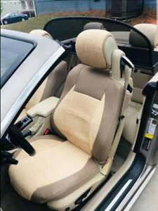 CAR SEAT COVERS (2 pcs) | Made for BMW  | Towel & Synthetic | Tan Beige
