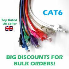 CAT6 Ethernet Network Cable RJ45 LAN Patch Lead 0.5m-50m in 10 Colours Wholesale