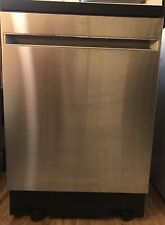 """Ge - 24"""" Portable Dishwasher - Stainless steel"""