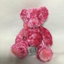 "Russ Hot Pink Teddy Bear Plush Soft Toy Stuffed 9"""