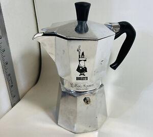 BIALETTI MOKA EXPRESS 1 CUP ALUMINUM SILVER-ITALY-COFFE ESPRESSO STOVETOP MAKER