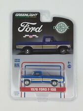 Greenlight Hobby Exclusive 1976 Ford F100 Blue Truck Bicentennial Group