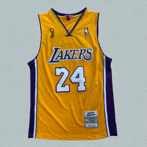 Los Angeles Lakers #24 Kobe Bryant Gold Hardwood Classics Sewing Jersey New