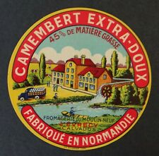 Etiquette fromage CAMEMBERT MOULIN NEUF Evrecy cheese label 9