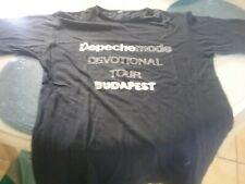 Tee shirt authentique DEPECHE MODE    ( DEVOTIONAL TOUR   BUDAPEST 27/07/1993 )