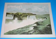 1891 large UNUSUAL ORIGINAL UNITED STATES NEW YORK CANADA ONTARIO NIAGARA FALL