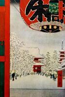 Utagawa Hiroshige Kinryuzan Temple Asakusa Art Print Poster 24x36 inch