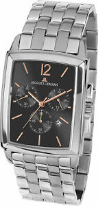 Jacques Lemans Men's 1-1906G Bienne 30mm Gray Dial Stainless Steel Watch