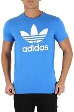 Adidas Originals Mens Branded Trefoil Crew Neck Cotton Short Sleeve T Shirt Top