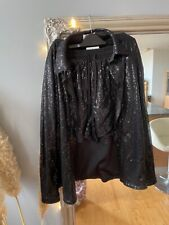 Lioness stunning black sequin flipping shorts and blouse suit size small