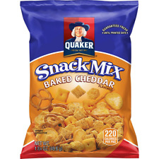 Quaker Snack Mix Baked Cheddar Home Work Cheesy Treats Food Gift Lot Favors 40ct