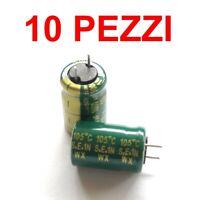 10 pezzi Condensatori Elettrolitici radiale 1000uF 10V 105°C 11x10mm