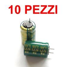 10 PEZZI Condensatori Elettrolitici 1000uF micro farad 6,3V volts 105° QUALITA/'