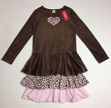 Gymboree NWT Girls Kitty Glamour Tiered Velour Dress Size 3