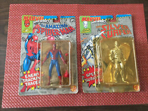 """Lot of 2 Marvel """"Cosmic Defenders"""" Action Figures: Spiderman & The Silver Surfer"""