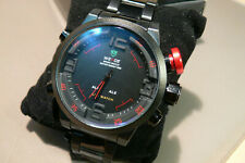 weide mens watch analogue and digital alloy case and bracelet red wh 2309