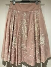 Ladies Monsoon Skirt Pink Beaded Occasion Party Wedding Worn Once Size 8/10/12