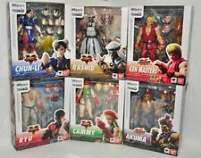 BANDAI S.H. Figuarts Street Fighter V Ryu, Chun, Cammy, Rashid, Akuma, Ken SET 6