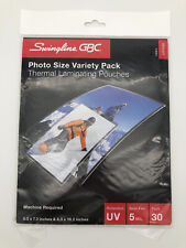 30 Ct Swingline Gbc 5mil Thermal Laminating Pouches Photo Size Variety Pack New